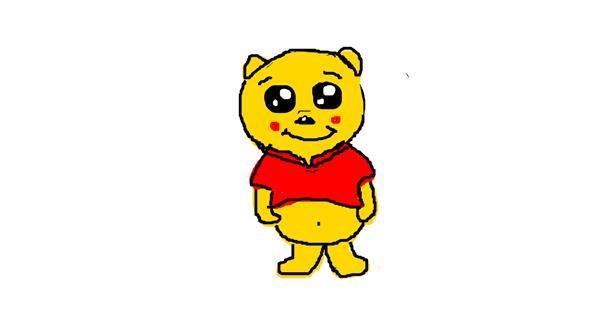 Bear drawing by Kaila