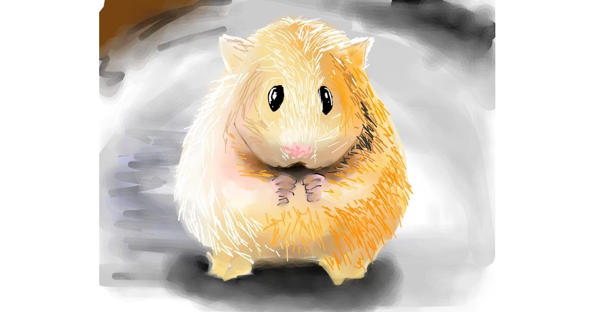 Drawing of Hamster by Bro 2.0😎