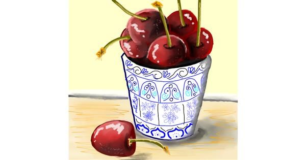 Cherry drawing by Bro