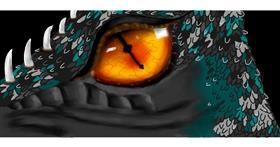 Drawing of Dragon by Sara