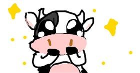 Cow drawing by Star