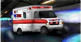 Drawing of Ambulance by Soaring Sunshine