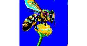 Bee drawing by TheKroner