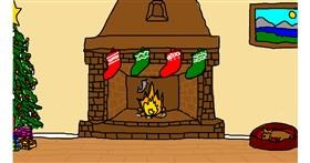 Drawing of Fireplace by heihei