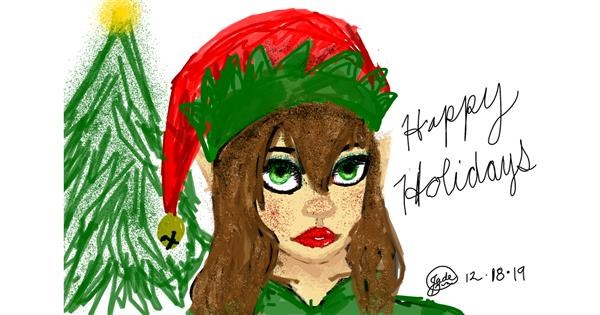 Christmas elf drawing by 🍭Cαɳԃყ Sɳαƙҽ🐍