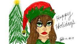 Christmas elf drawing by 🍭Cαɳԃყ Sɳαƙҽ🐍