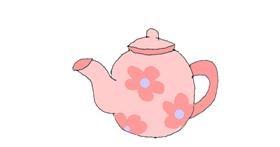 Teapot drawing by Leni