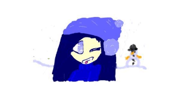 Snowflake drawing by cookie karr