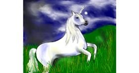 Unicorn drawing by Cec