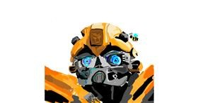 Bumblebee drawing by Rose rocket