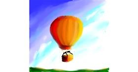 Hot air balloon drawing by Jeral