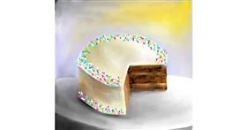 Drawing of Cake by Aastha