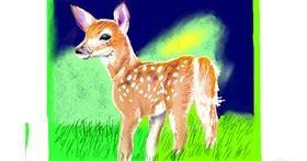 Deer drawing by GJP