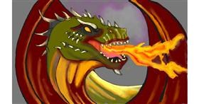 Drawing of Dragon by Tim