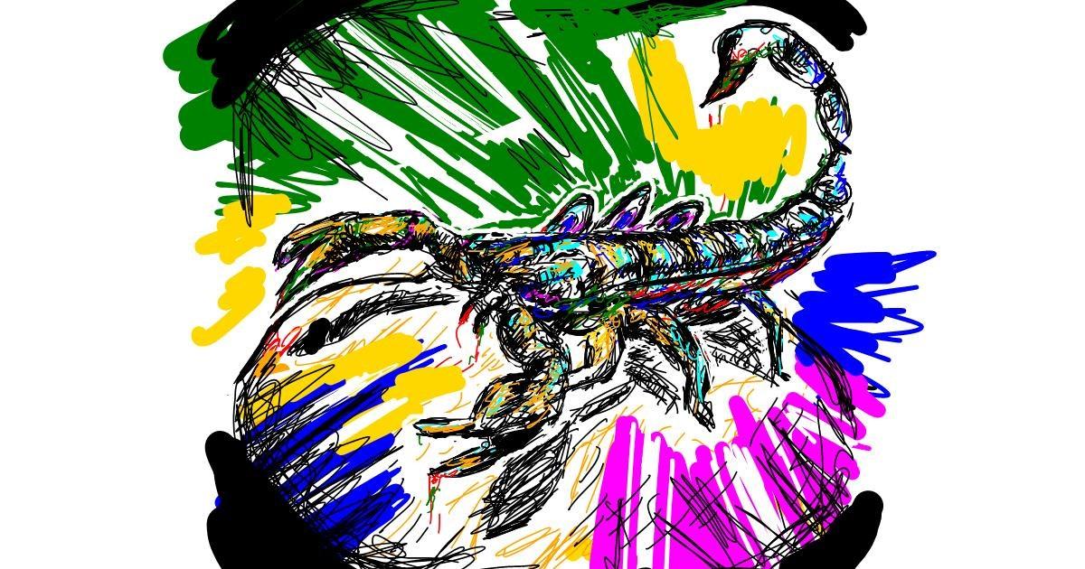 Scorpion drawing by purzedo