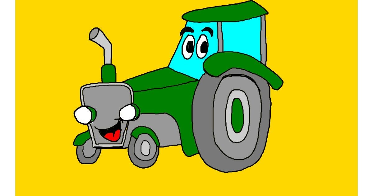 Tractor drawing by Brad