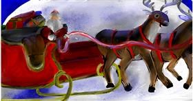 Drawing of Sleigh by Soaring Sunshine