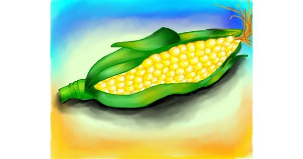 Corn drawing by Freny