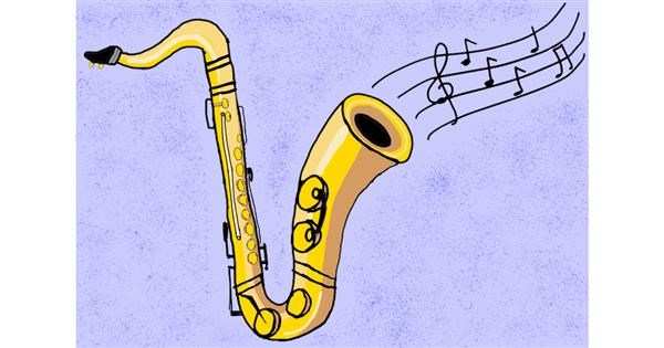Saxophone drawing by Lili