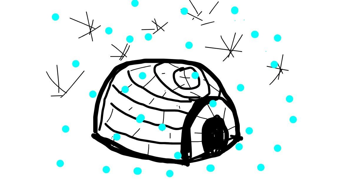 Igloo drawing by Kaz