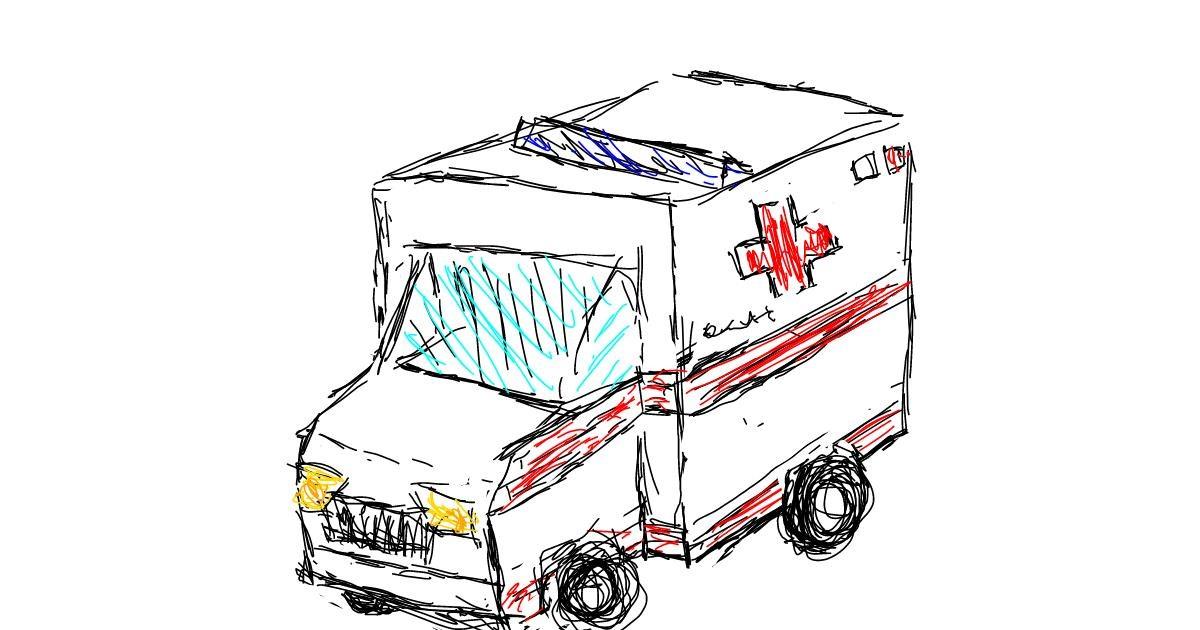 Ambulance drawing by hi