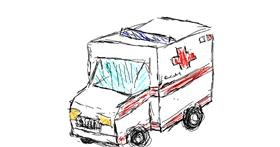Ambulance drawing by hi