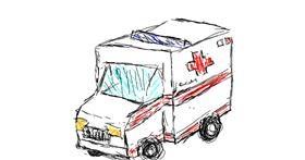Drawing of Ambulance by hi