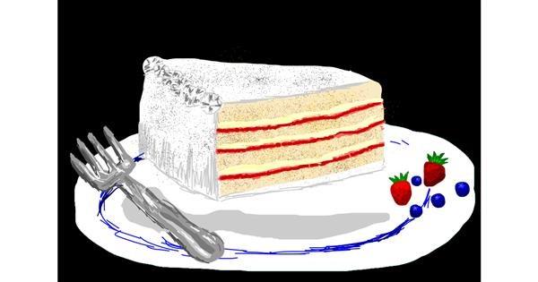 Cake drawing by Bigoldmanwithglasses