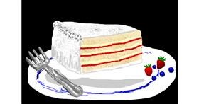 Cake drawing by Bigoldmanwithglasses