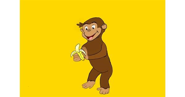 Monkey drawing by Randar