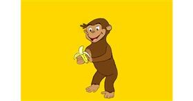 Monkey drawing by Randar
