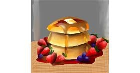 Pancakes drawing by Aastha