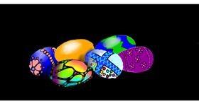Drawing of Easter egg by SAM AKA MARGARET 🙄