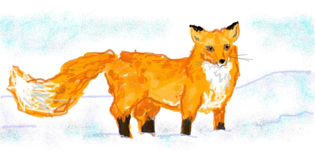 Fox drawing by Flummoxed