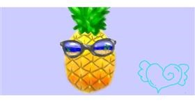 Drawing of Pineapple by GABABUNDO