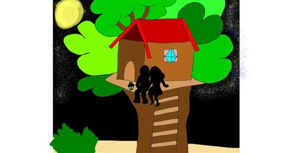 Treehouse drawing by Zerous 👩‍🎤