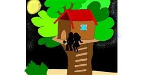 Treehouse drawing by Zerous 👩🎤
