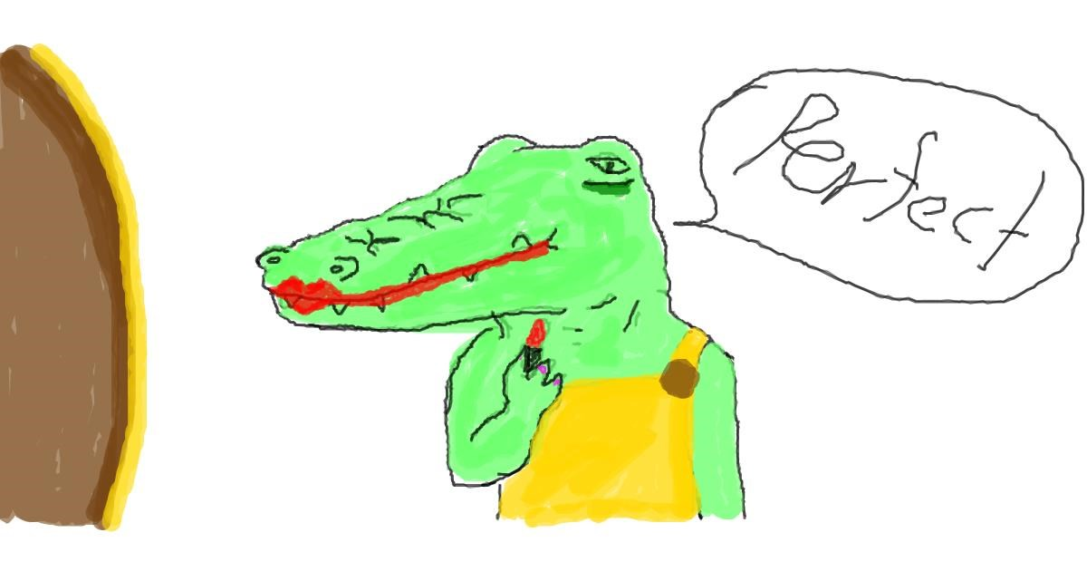 Alligator drawing by JAmile