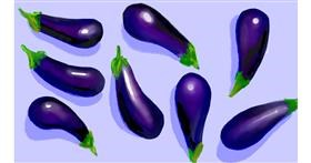 Eggplant drawing by Grace💖
