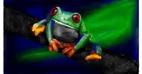 Frog drawing by Soaring Sunshine