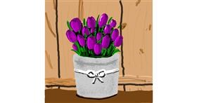 Tulips drawing by Joze