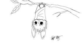 Bat drawing by Ai