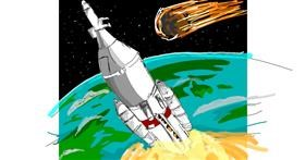 Rocket drawing by Acorn