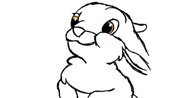 Rabbit drawing by Silenteili
