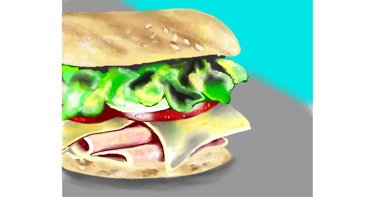 Sandwich drawing by Cec