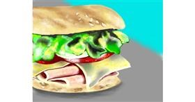 Sandwich drawing by Cec