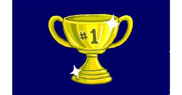 Trophy drawing by Sim