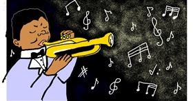 Trumpet drawing by pho