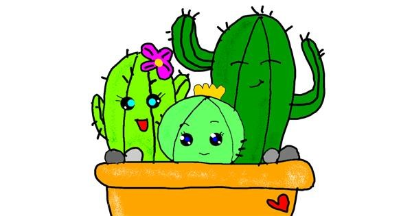 Cactus drawing by Leni