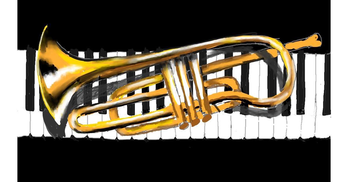 Trumpet drawing by SAM AKA MARGARET 🙄